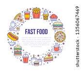 fast food circle illustration... | Shutterstock .eps vector #1356067469