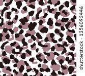 leopard skin seamless pattern.... | Shutterstock . vector #1356093446