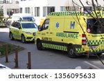 emergency ambulance and... | Shutterstock . vector #1356095633