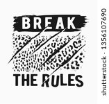 break the rules slogan with... | Shutterstock .eps vector #1356107690