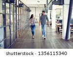 on the way to business meeting. ... | Shutterstock . vector #1356115340