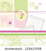 scrapbook design elements | Shutterstock . vector #135612938