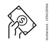 hand hold dollar money icon.... | Shutterstock .eps vector #1356130466