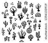 pixel art plants  8 bit...   Shutterstock .eps vector #1356133919