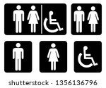 washroom symbols collection... | Shutterstock .eps vector #1356136796