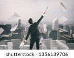 businessman tired of... | Shutterstock . vector #1356139706