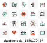 flat line icons set of future... | Shutterstock .eps vector #1356170459