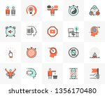 flat line icons set of... | Shutterstock .eps vector #1356170480