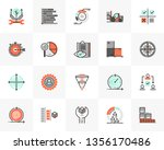 flat line icons set of agile... | Shutterstock .eps vector #1356170486