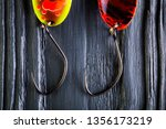 hooks for trout baits. spoon... | Shutterstock . vector #1356173219