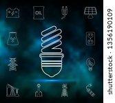 fluorescent light bulb icon....