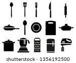 a set of kitchen tools.... | Shutterstock .eps vector #1356192500