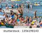 sunny beach  bulgaria   2 sep... | Shutterstock . vector #1356198143