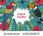 tropical collection. tropical... | Shutterstock .eps vector #1356200873