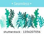 Seamless Border Of Leaves And...