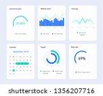 infographic modern dashboard...