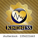 gold badge or emblem with... | Shutterstock .eps vector #1356221663