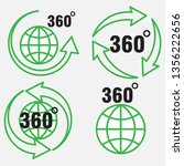 set of icons 360 degree... | Shutterstock .eps vector #1356222656