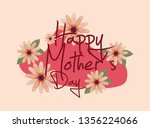 happy mothers day | Shutterstock .eps vector #1356224066