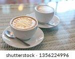 hot caramel macchiato coffee... | Shutterstock . vector #1356224996