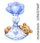 cute  baby  teddy bear cartoon ... | Shutterstock . vector #1356227669