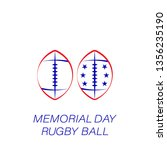 memorial day rugby ball colored ...