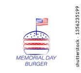 memorial day burger colored...