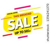 yellow sale banner. vector... | Shutterstock .eps vector #1356241370