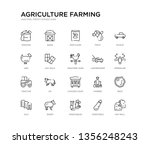 set of 20 line icons such as... | Shutterstock .eps vector #1356248243