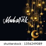 eid mubarak. background design... | Shutterstock .eps vector #1356249089