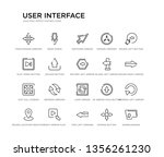 set of 20 line icons such as... | Shutterstock .eps vector #1356261230