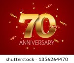 template logo 70 years... | Shutterstock .eps vector #1356264470