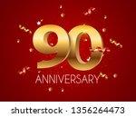template logo 90 years... | Shutterstock .eps vector #1356264473