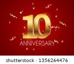 template logo 10 years... | Shutterstock .eps vector #1356264476
