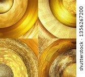 abstract golden circles... | Shutterstock . vector #1356267200