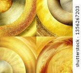 abstract golden circles... | Shutterstock . vector #1356267203