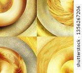 abstract golden circles... | Shutterstock . vector #1356267206