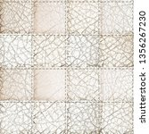 seamless leather patchwork... | Shutterstock . vector #1356267230