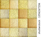 seamless leather patchwork... | Shutterstock . vector #1356267236