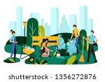 volunteering  charity social... | Shutterstock .eps vector #1356272876
