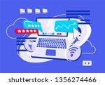 vector illustration of laptop ... | Shutterstock .eps vector #1356274466