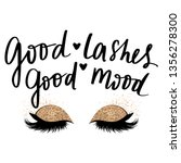 good lashes  good mood. vector... | Shutterstock .eps vector #1356278300
