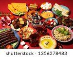 middle eastern or arabic dishes ... | Shutterstock . vector #1356278483