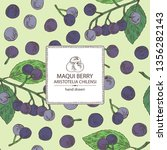 background with maqui berry ... | Shutterstock .eps vector #1356282143