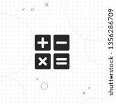 calculator  vector best flat... | Shutterstock .eps vector #1356286709