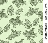 seamless hand drawn pattern of... | Shutterstock .eps vector #1356289496