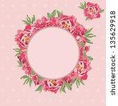 vintage card design for... | Shutterstock .eps vector #135629918