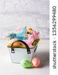 easter homemade gingerbread...   Shutterstock . vector #1356299480