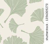 ginkgo biloba botany plant ... | Shutterstock .eps vector #1356305273