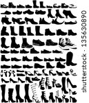 collection of shoes | Shutterstock .eps vector #135630890